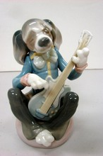 Lladro Dog Playing Guitar #1153
