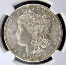 1882 S Morgan Silver Dollar NGC MS 66