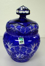 Crystal Cobalt Cut-to-Clear Ginger Jar