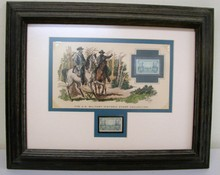 Framed Lee & Grant 4 Cent Stamp