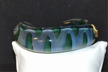 Crystal Glass Green & Blue Cuff Bracelet