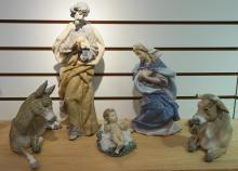 5 Pieces Lladro Nativity