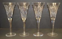 4 Waterford Champaign flutes