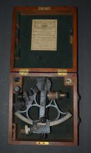 Vintage 1940's Nautical Hughes & Sons Sextant