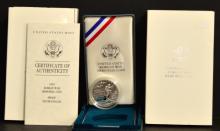 Five 1991 US Korean War Memorial PF Silver Dollars
