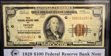 1929 $100 Federal Reserve Bank of Chicago, IL VF