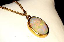 18kyg Opal Necklace