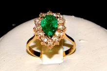 18kyg Emerald & Diamond Ring 2.82ct
