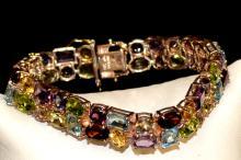 Sterling Colored Stone Bracelet