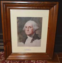 Reproduction print of George Washington