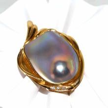 14kyg Blister Pearl Diamond Enhancer #1361