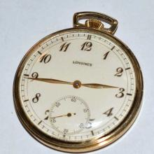 10k Gold Filled Longines Pocket Watch