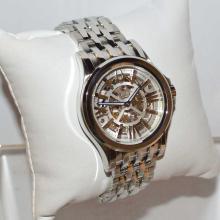 Men's stainless skeleton Bulova watch