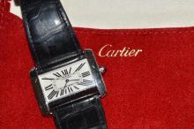 Stainless Cartier Tank Divan Watch