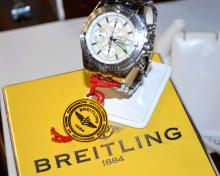 Man's Stainless Breitling A15536 Chrono Watch