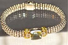 Sterling & 18k Lagos Peridot Bracelet