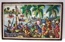 Gerand Haitian Oil Painting On Canvas