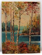 G. CRONLEY OIL PAINTING