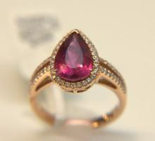 14 Kt. Rose Gold Rubelite Ring