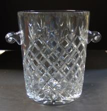 Large Crystal 2 Handled Ice Bucket