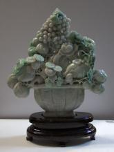 Jadeite Jade Carved Fruit Planter