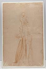 Attributed to WILFREDO LAM drawing.