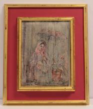 Edna Hibel Oil Painting on canvas