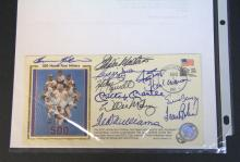500 Home Run Hitters Autographed Post Card