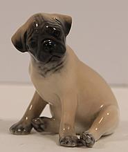 Two Royal Copenhageporcelain Mini Pug