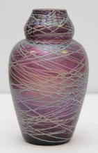 ATTRIBUTED TO QUEZAL ART GLASS VASE