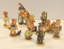 Lot of Nine German Porcelain Figures