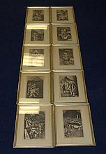 Set of Ten William Gropper