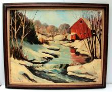 SAMUEL DALE- 1957 OIL PAINTING ON BOARD