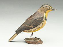 Vintage full size carved meadowlark.