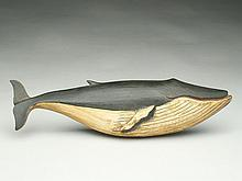 Wooden carved sperm whale, Charles Voorhees.