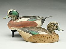 Pair of 1/3 size widgeon, Ward Brothers, Crisfield, Maryland.