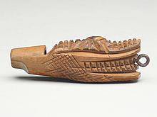 Carved wooden whistle from Georgia, circa 1920s.