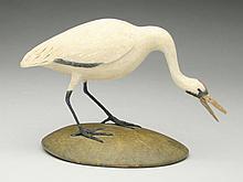 1/6 size white heron, Frank Finney, Cape Charles, Virginia.