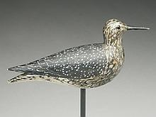 Yellowlegs carved in the style of Elmer Crowell, East Harwich, Massachusetts.