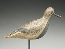 Large blackbellied plover carved in the style of Obediah Verity, Mark McNair, Craddockville, Virginia.