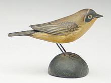 Miniature songbird, Elmer Crowell, East Harwich, Massachusetts.