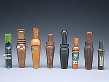 Eight duck calls, by various makers.
