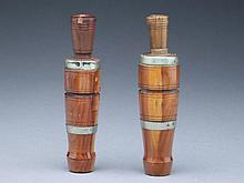 Two duck calls, Charles Perdew, Henry, Illinois.