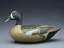 Bluewing teal drake, Cline McAlpin, Chicago, Illinois, circa 1960.