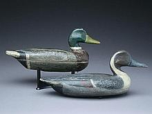 Two decoys, Perry Wilcoxen, Liverpool, Illinois, 1st quarter 20th century.