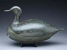 Hollow carved Canada goose from the North Shore of Massachusetts, circa 1900.