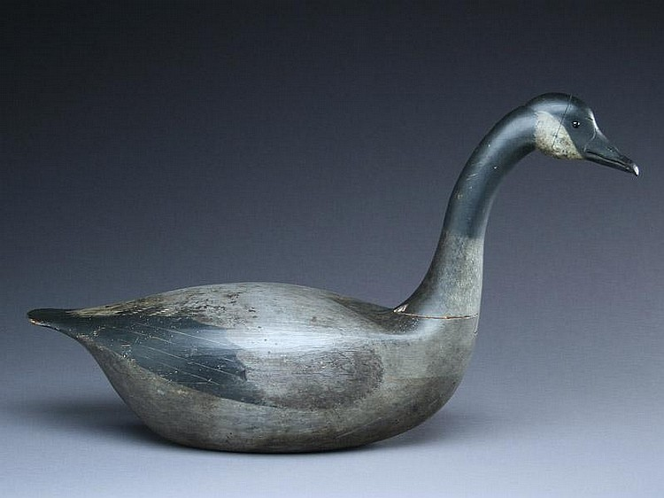 Very rare and important hollow carved Canada goose, last quarter 19th century.