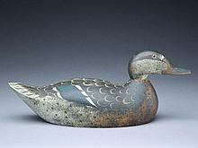 Exceptionally well preserved mallard hen, Mason Decoy Factory, Detroit, Michigan.