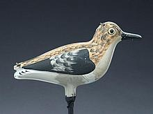 Very rare folding tin sanderling, attributed to Strater and Sohier, Boston, Massachusetts.