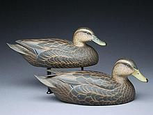 Pair of decorative black ducks, Don Briddell, Mt. Airey, Maryland.